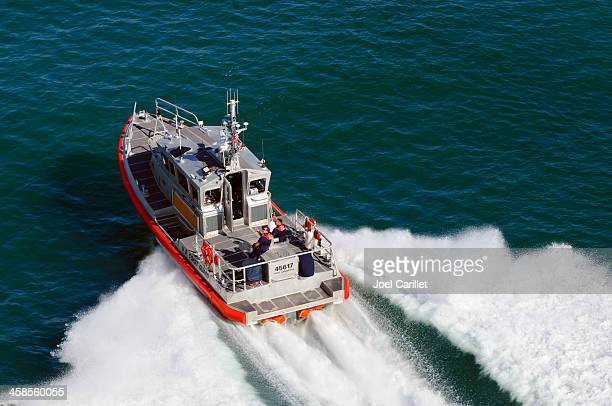 u.s. coast guard response boat-medium - coast guard stock pictures, royalty-free photos & images