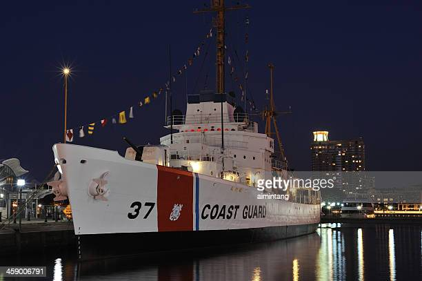 coast guard ship in baltimore - coast guard stock pictures, royalty-free photos & images