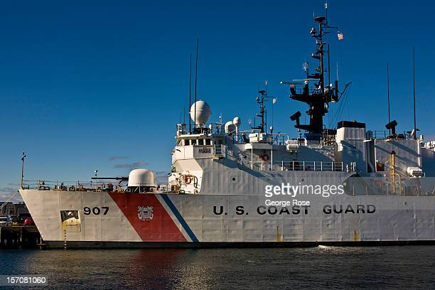 Coast Guard ship is docked at the Wharf on November 4 2012 in Boston Massachusetts Despite a global recession that has lasted five years...