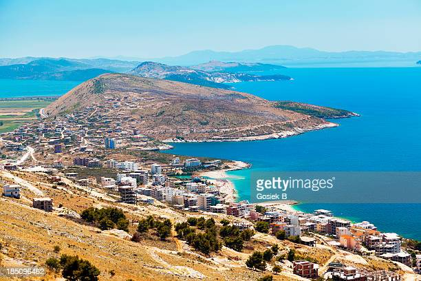 coast in albania - albania stock pictures, royalty-free photos & images