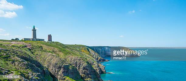 coast in britanny, france - cotes d'armor stock photos and pictures