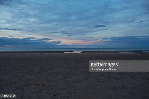 Coast line at dusk