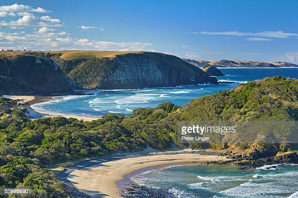 coast line of coffee bay - eastern cape stock pictures, royalty-free photos & images