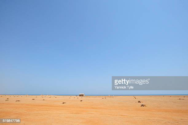 coast north of bosaso - bosaso stock pictures, royalty-free photos & images