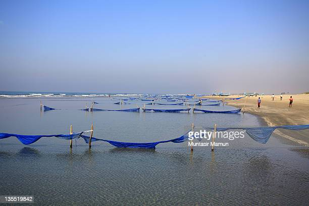 coast of cox's bazar-teknaf peninsula, bangladesh - cox bazar sea beach stock pictures, royalty-free photos & images