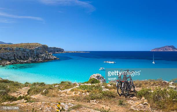coast of favignana - sicily stock pictures, royalty-free photos & images