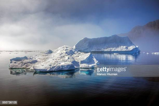 coast of greenland iceberg and floating ice - drift ice stock pictures, royalty-free photos & images