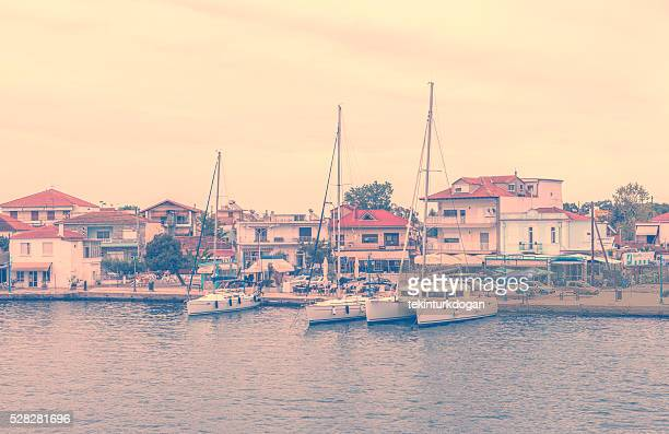 coast of keramoti summer town near kavala greece