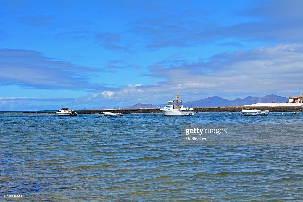 Majanicho costa de praia, Canárias Fuerteventura, Espanha : Foto de stock