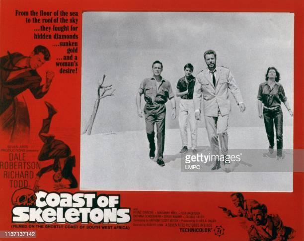Coast Of Skeletons lobbycard Richard Todd unknown Heinz Drache Marianne Koch 1964