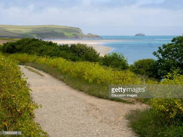 Coast path along the river Camel, Padstow, Cornwall, UK.