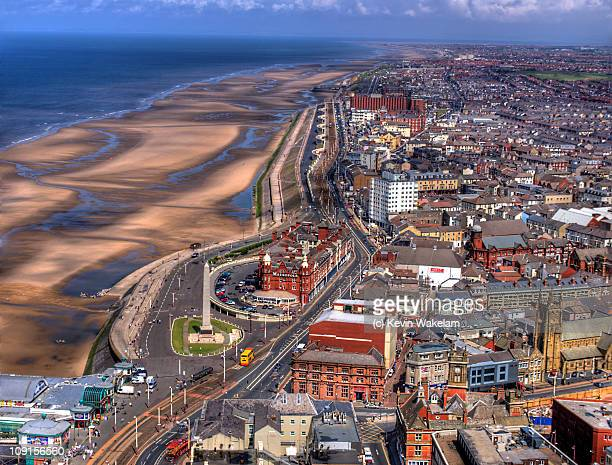 coast - blackpool stock photos and pictures