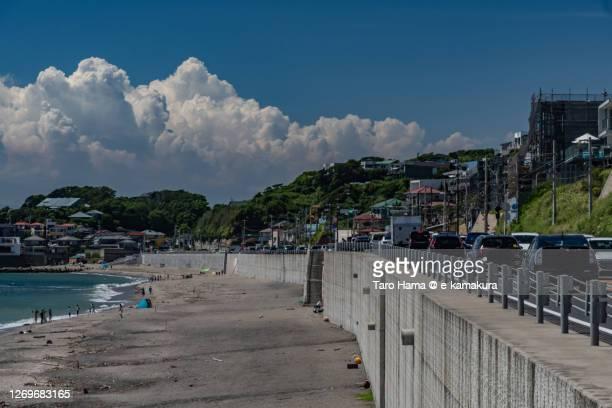 coast road in kanagawa prefecture of japan - 平塚市 ストックフォトと画像