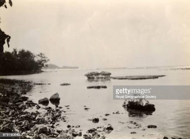 Coast scene near the Blue Hole, Jamaica, 1920.