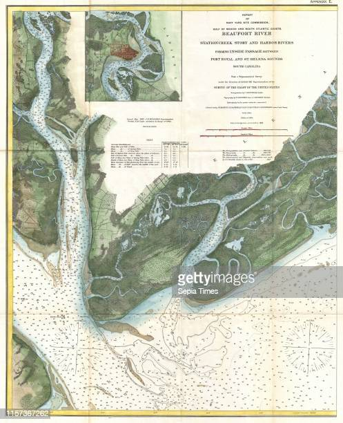 S Coast Survey Map of Beaufort South Carolina