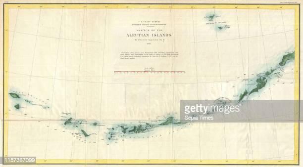S Coast Survey Map of the Aleutian Islands Alaska