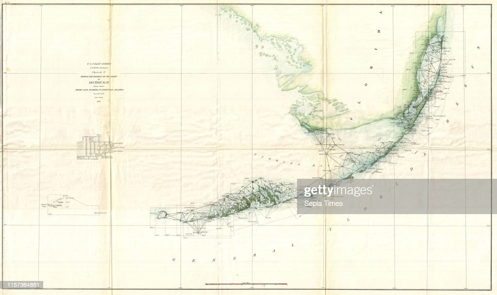S. Coast Survey Triangulation Map of the Florida Keys ...