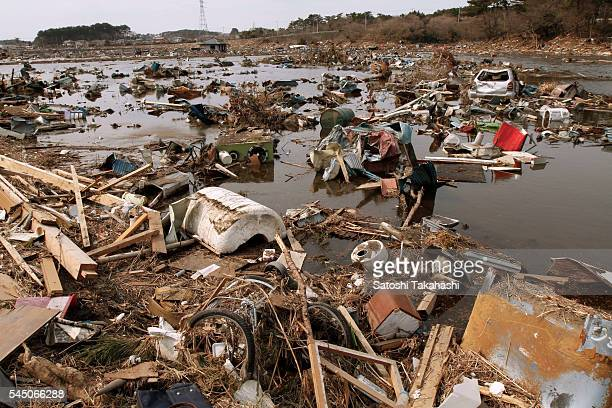Coastal area of Higashi Matsushima city that was devastated by the earthquake and tsunami that hit northeastern Japan on March 11 2011