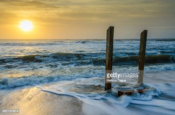 Coastal, Beach Sunrise Seascape Photograph Kissed by the Sea
