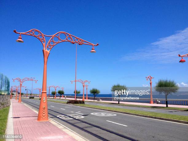 coastal boulevard, a coruna, spain - a coruna stock pictures, royalty-free photos & images