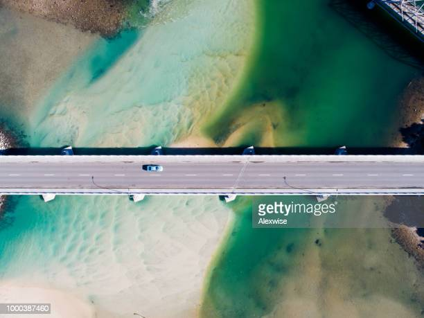 coastal bridge - road stock pictures, royalty-free photos & images