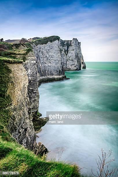 Coastal cliffs, Etretat, Normandy, France