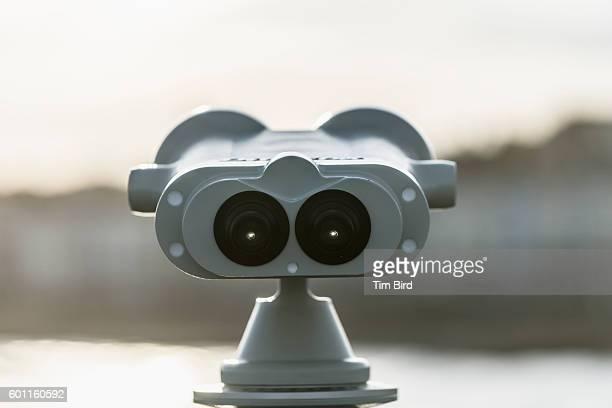 Coastal coin operated binoculars