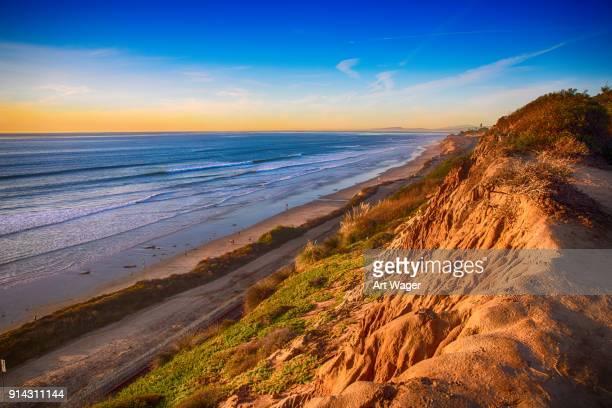 Coastal Del Mar California at Dusk