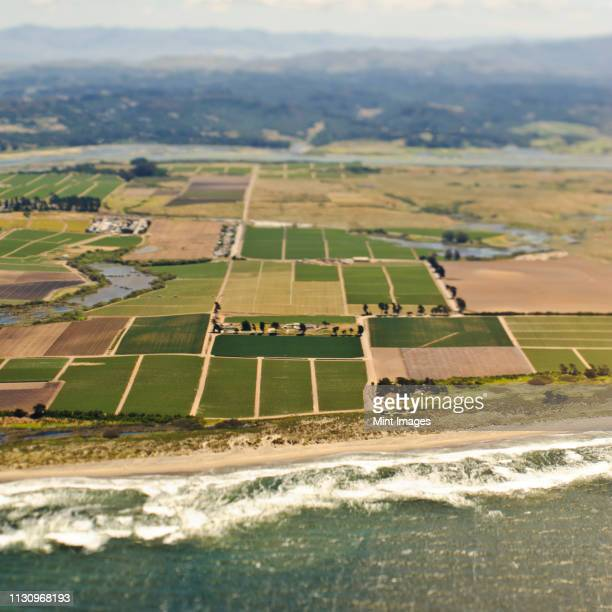 coastal farmland - san mateo county stock pictures, royalty-free photos & images