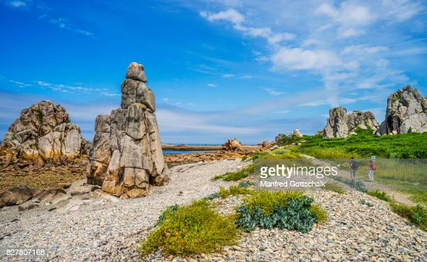 coastal hiking trail Gouffre de Plougrescant