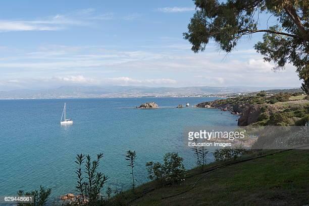 Coastal landscape close to Latsi western Cyprus .