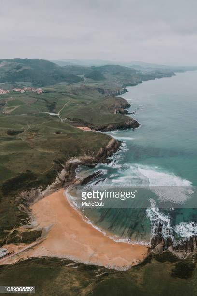Coastal landscape from above