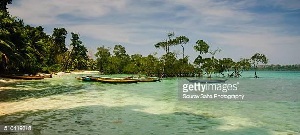 Coastal landscape from Havelock, Andaman and Nicobar Islands