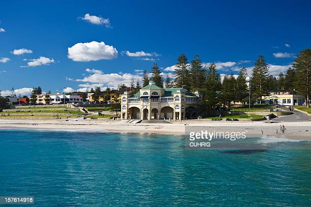 coastal landscape of indiana tea house cottesloe beach - indiana stock pictures, royalty-free photos & images