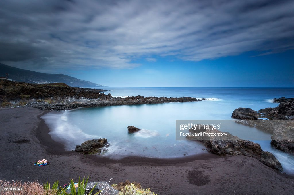 Coastal landscape view of Canary islands : Stock Photo