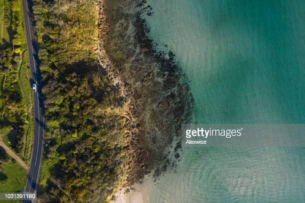 coastal road aerial mt martha - coastline stock pictures, royalty-free photos & images
