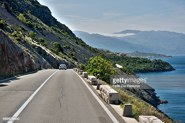 Coastal road at Senj of Croatia