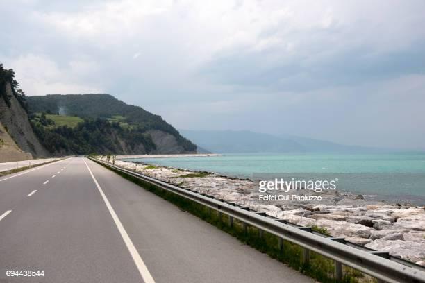 Coastal road at Yakakent in Samsun Province, West Black Sea Region, Turkey