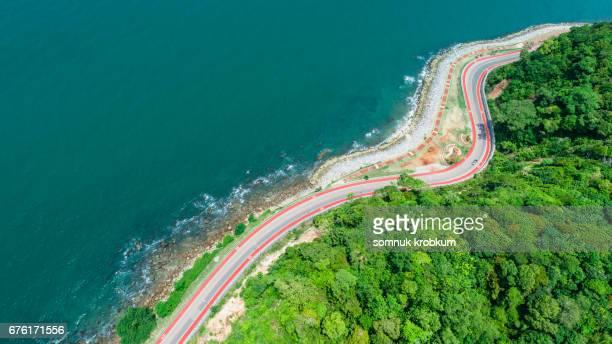 Coastal road in Chantaburi;Thailand