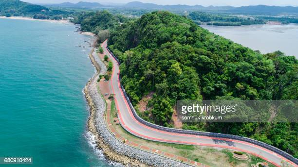 Coastal road in Thailand