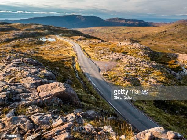 Coastal road North Coast 500, Tornapress, Highlands, Scotland, Great Britain