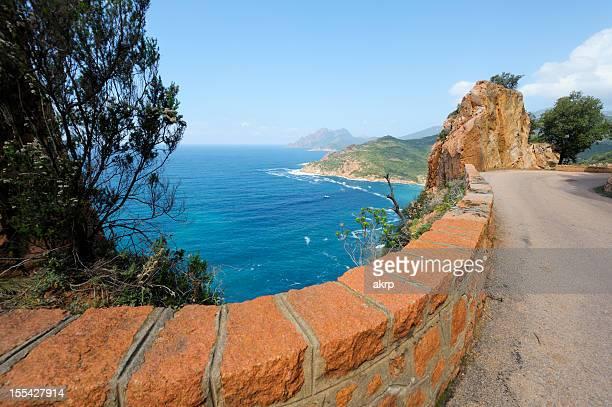 Coastal Road on the Island of Corsica