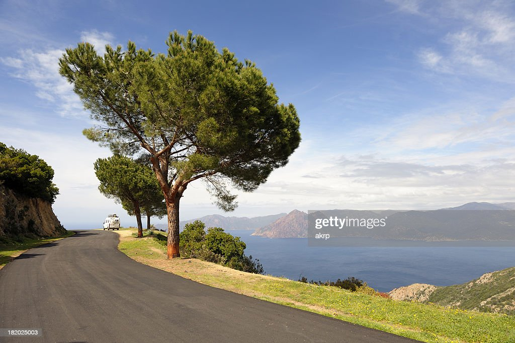 Coastal Road on the Island of Corsica : Stock Photo