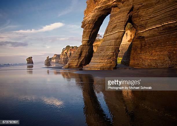 Coastal rock formation, Taranaki, New Zealand