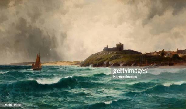 Coastal Scene With Criccieth Castle, 1892. Artist William Joseph King. .