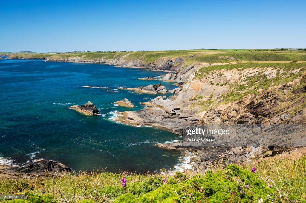 Coastal scenery between Solva and St Davids, Pemrokeshire, Wales, UK. : Stock Photo