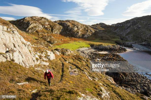 Coastal scenery near Achmelvich in Assynt, North West Highlands, Scotland, UK.