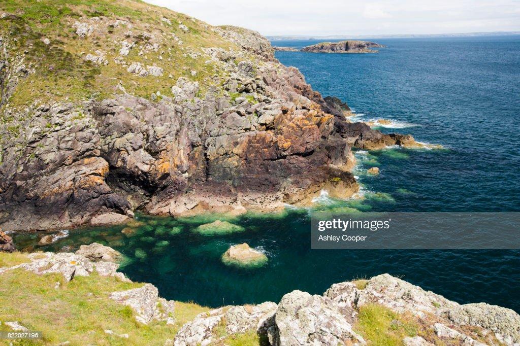 Coastal scenery near Porth Claise, Pembrokeshire, Wales, UK. : Stock Photo