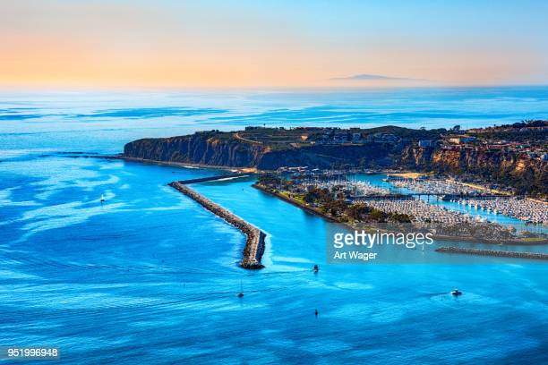 coastal southern california at dusk - catalina island stock photos and pictures