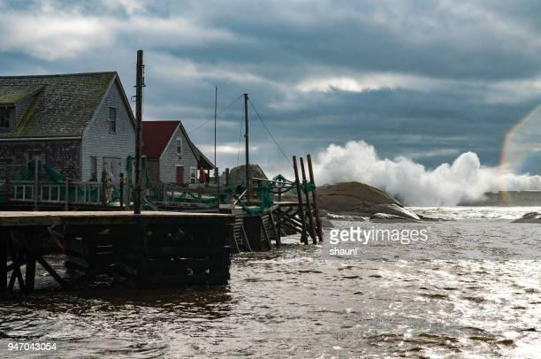 coastal storm - atlantic ocean stock pictures, royalty-free photos & images